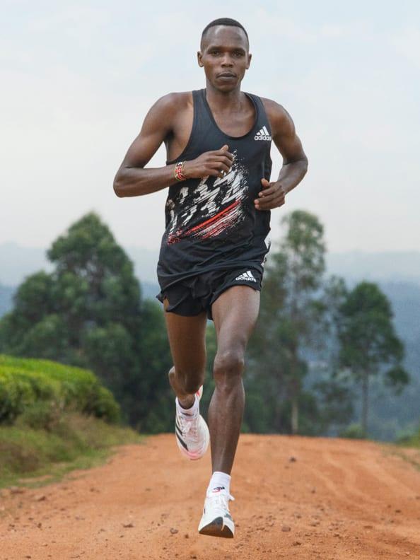 Amos Kipruto wears the adidas Adios Pro 2 shoe